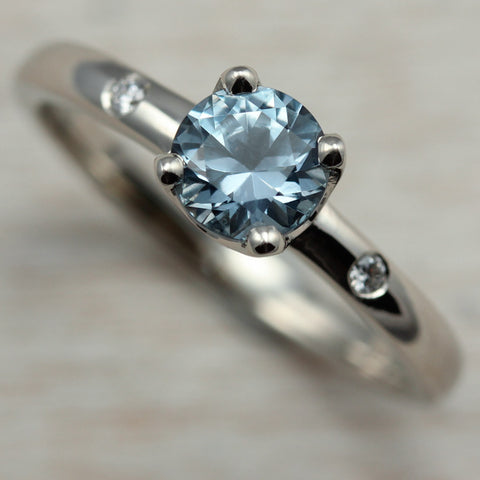 Crown Solitaire with Light Denim Blue Montana Sapphire