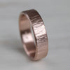 Men's Edgeless Wood Textured Band, Men's Wedding Bands - Aide-mémoire Jewelry