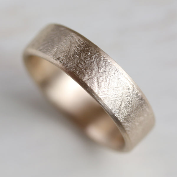 Rustic Hand-Carved Edgeless Band