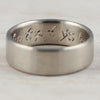 Hand Engraved Wedding Band, Engagement Ring - Aide-mémoire Jewelry