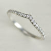 Pave Diamond V Contour Band, Conflict-free Diamond Ring, Ethical Diamond Half Eternity Band - Aide-memoire Jewelry