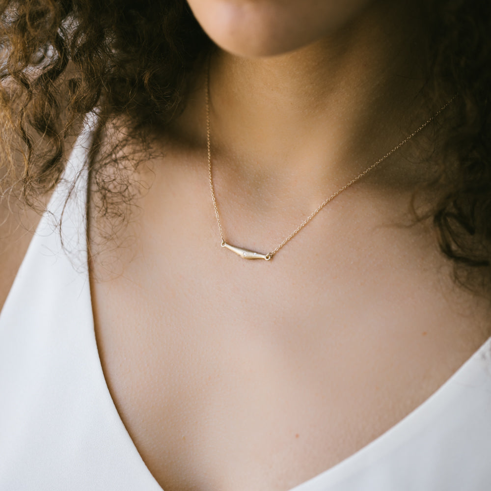 Pod Pendant Necklace with Ethical & Lab-grown Diamonds, Necklace, Demi-fine Jewelry - Aide-mémoire Jewelry