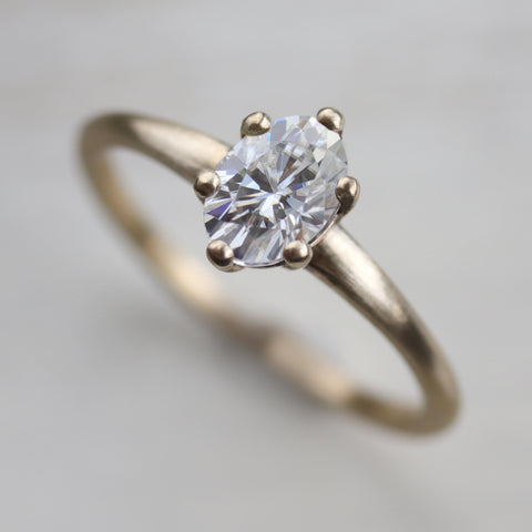 7x5mm Oval Six-Prong Solitaire
