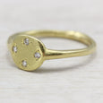 Diamond Scatter Ancient Engagement Ring