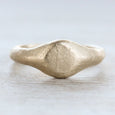 Small Ancient Texture Signet Ring •