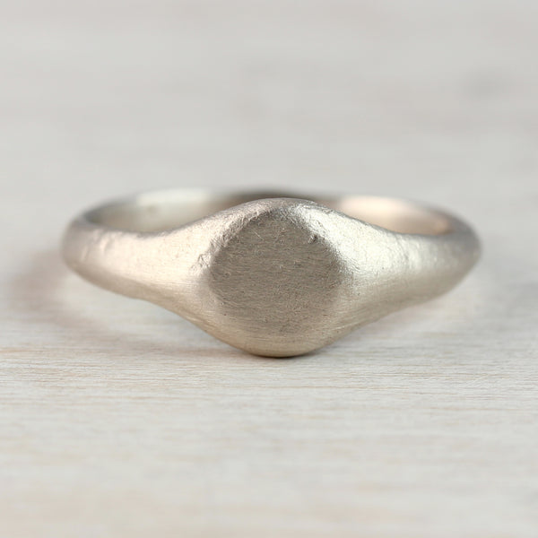 Small Ancient Texture Signet Ring