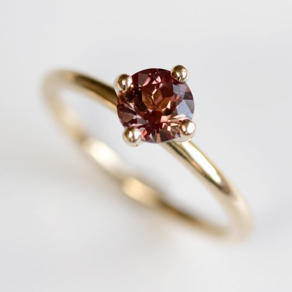 Burgundy Sapphire Solitaire