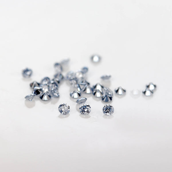 . 1.3-2mm Round Lab-grown Blue Diamond