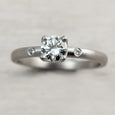 Crown Solitaire with Side Stones