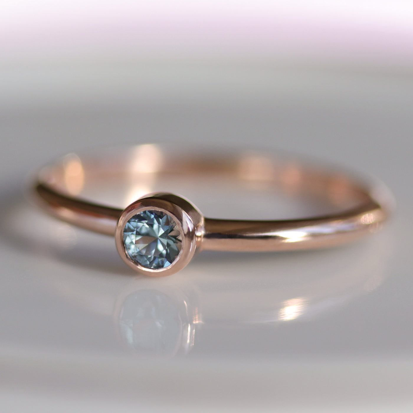 Malawi Sapphire Solitaire Engagement Ring