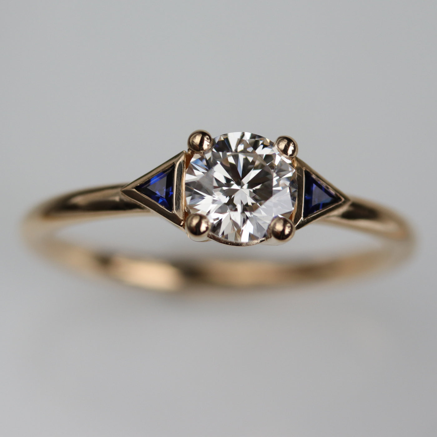 Custom Three Stone Engagement Ring