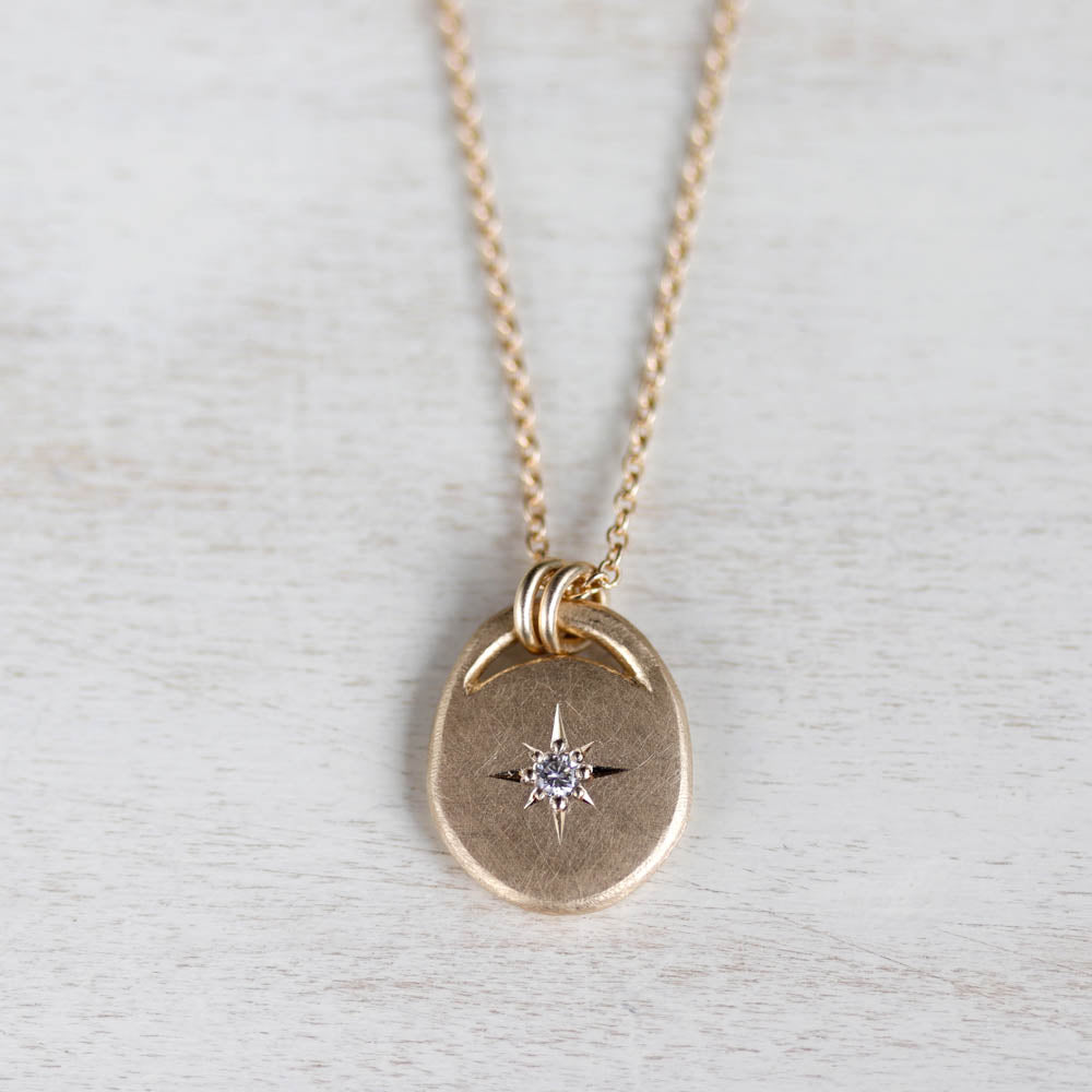Diamond Star Pendant, Necklace - Aide-mémoire Jewelry