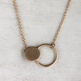 Double Circle Pendant, Necklace - Aide-mémoire Jewelry