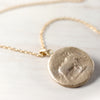 Elephant Ancient Coin Pendant, Necklace - Aide-mémoire Jewelry