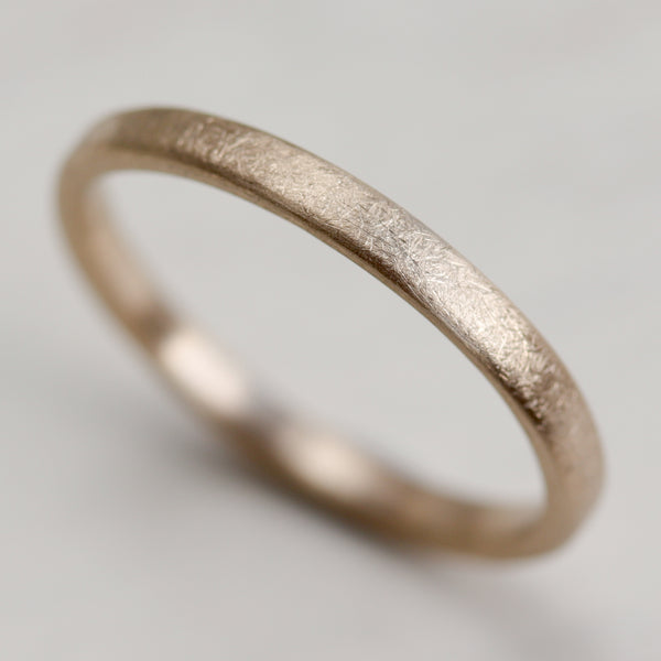 Europa Moon Texture Edgeless Flat Band, Women's Wedding Band - Aide-mémoire Jewelry