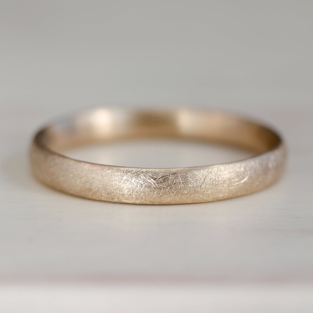 Europa Moon Texture Hand-carved Classic Band, Women's Textured Wedding Bands - Aide-mémoire Jewelry