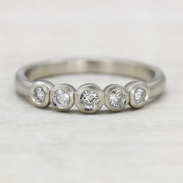 Custom Five Stone Ring, Engagement Ring - Aide-mémoire Jewelry