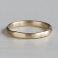 Flat Sculpted Stacking Ring >7.25, Wedding Band - Aide-mémoire Jewelry