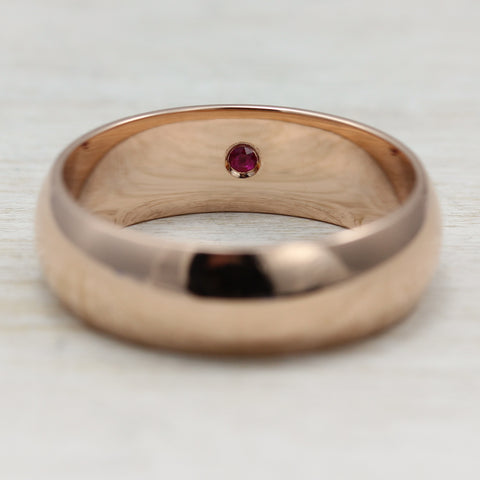 Add a Flush Set Diamond, Sapphire or Ruby to Inside of a Ring