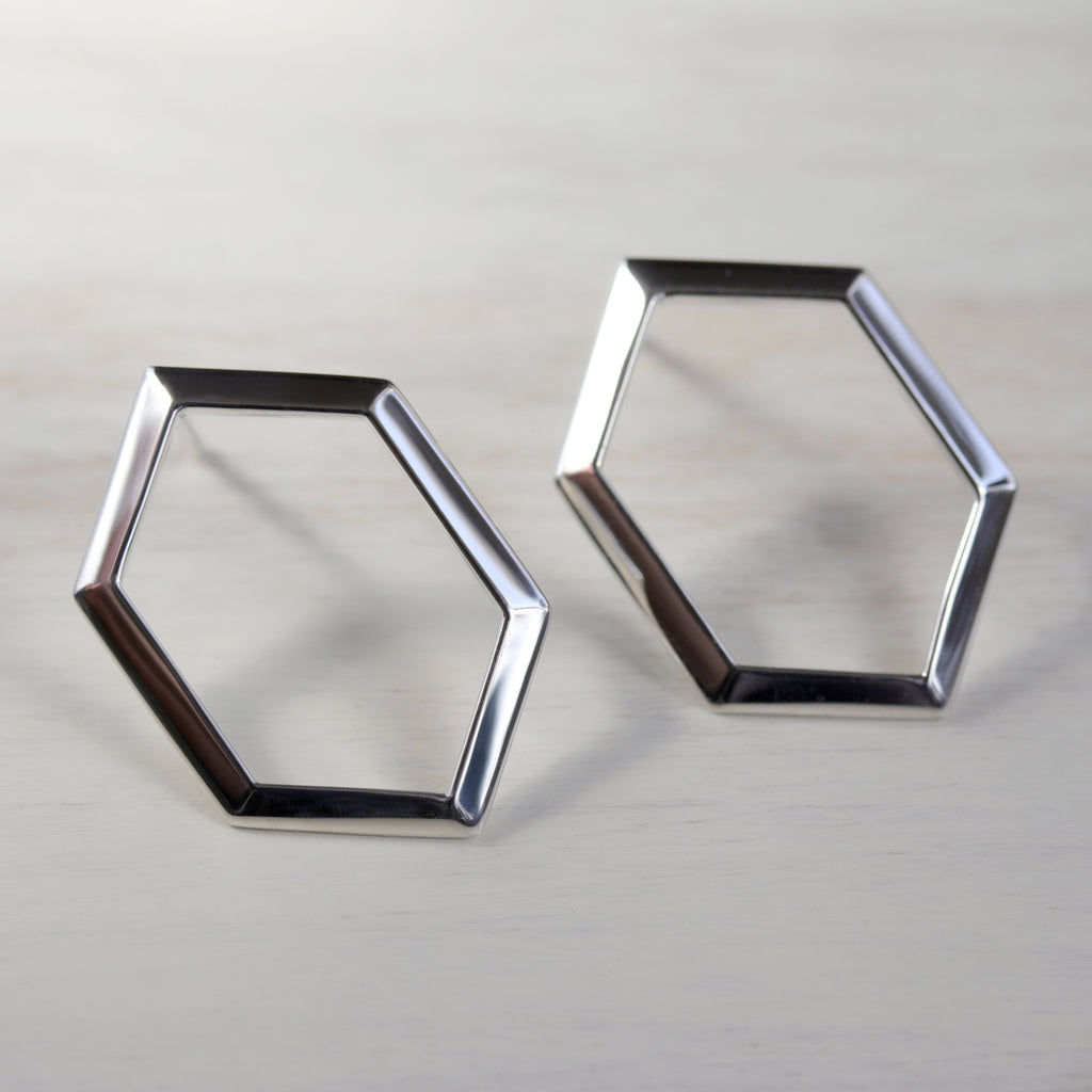 Geometric Drop Earrings​ - Eco-friendly, Ethical, Simple Jewelry