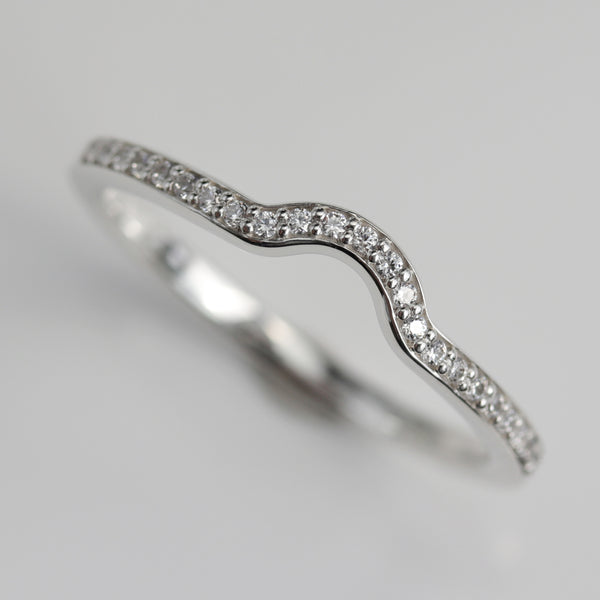 Half Circle Pave Half Eternity-Style Contour Band