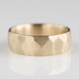Size 11 - 10k Yellow Gold 7mm Smooth Faceted Wedding Band
