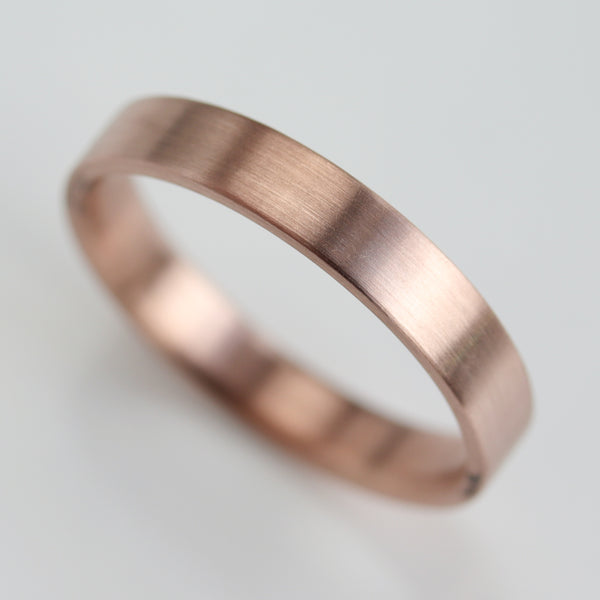 Size 10.5 - 14k Rose Gold 4x1.5mm Flat Band