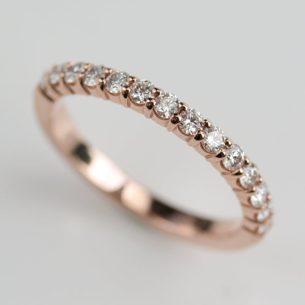 Size 5.5 - 2mm Diamond Scalloped Half Eternity Band