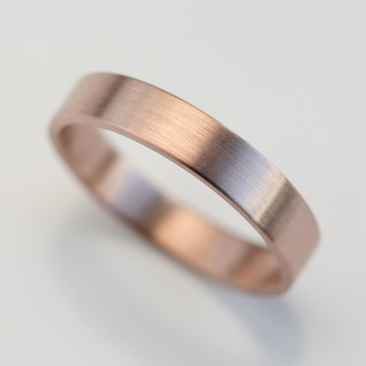 Size 7.5 - 14k Rose Gold 4x1.25mm Flat Band