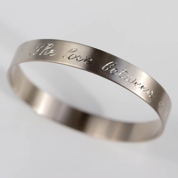 Hand-engraved Bangle Bracelet
