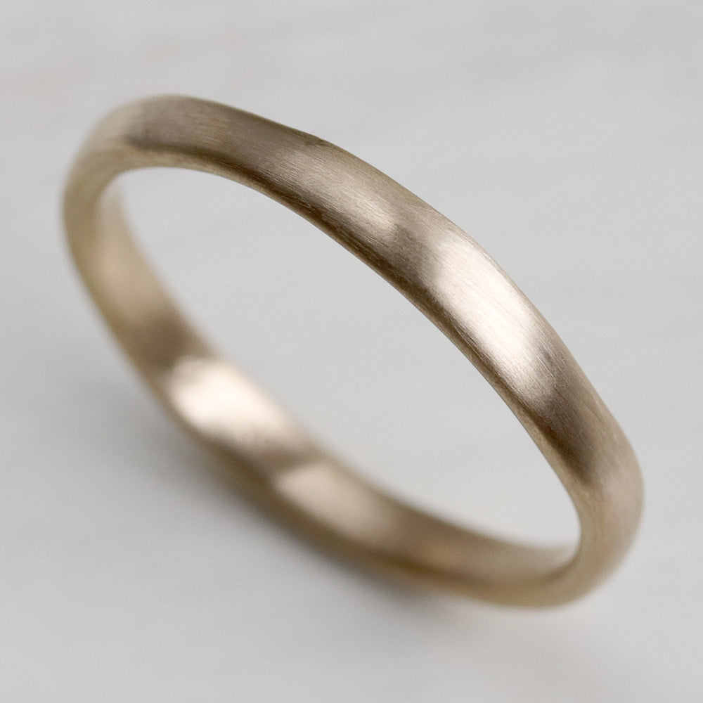 Flat Sculpted Stacking Ring