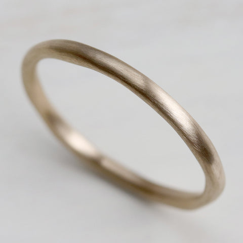 Round Sculpted Stacking Ring