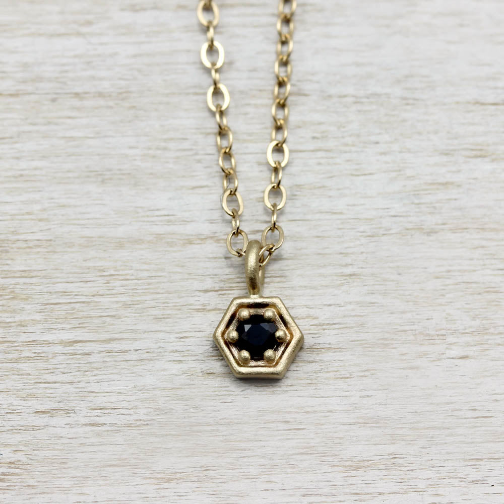 Hexagon Pendant, Necklace - Aide-mémoire Jewelry