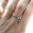 Women's Hammer Textured Square Band, Women's Wedding Band - Aide-mémoire Jewelry