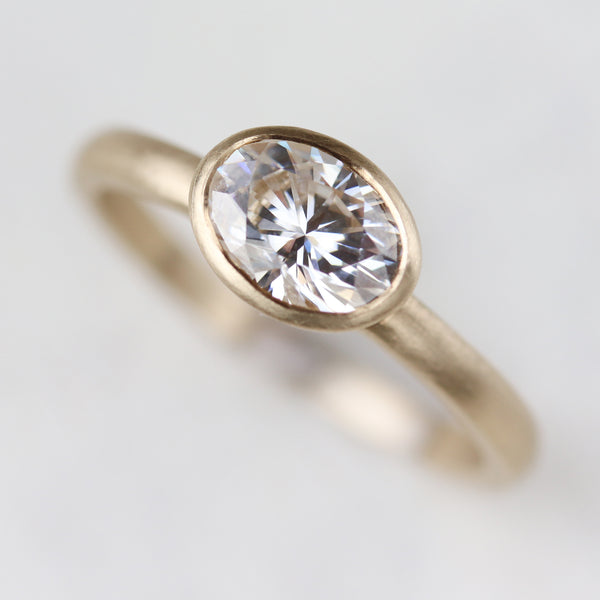 Size 6 - 7x5mm Oval Bezel Solitaire