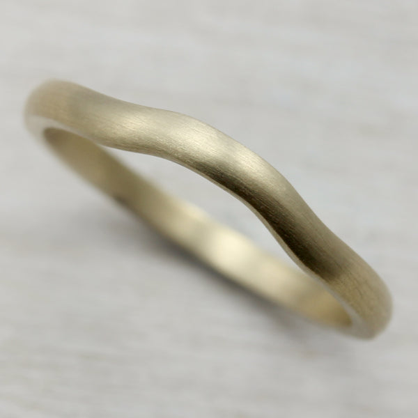 Size 7 - 10k Yellow Gold 2mm Low-Dome Square Contour Band