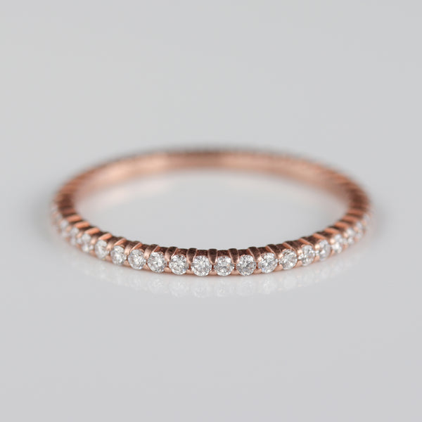 Size 7.25 - Diamond Scalloped Full Eternity Band