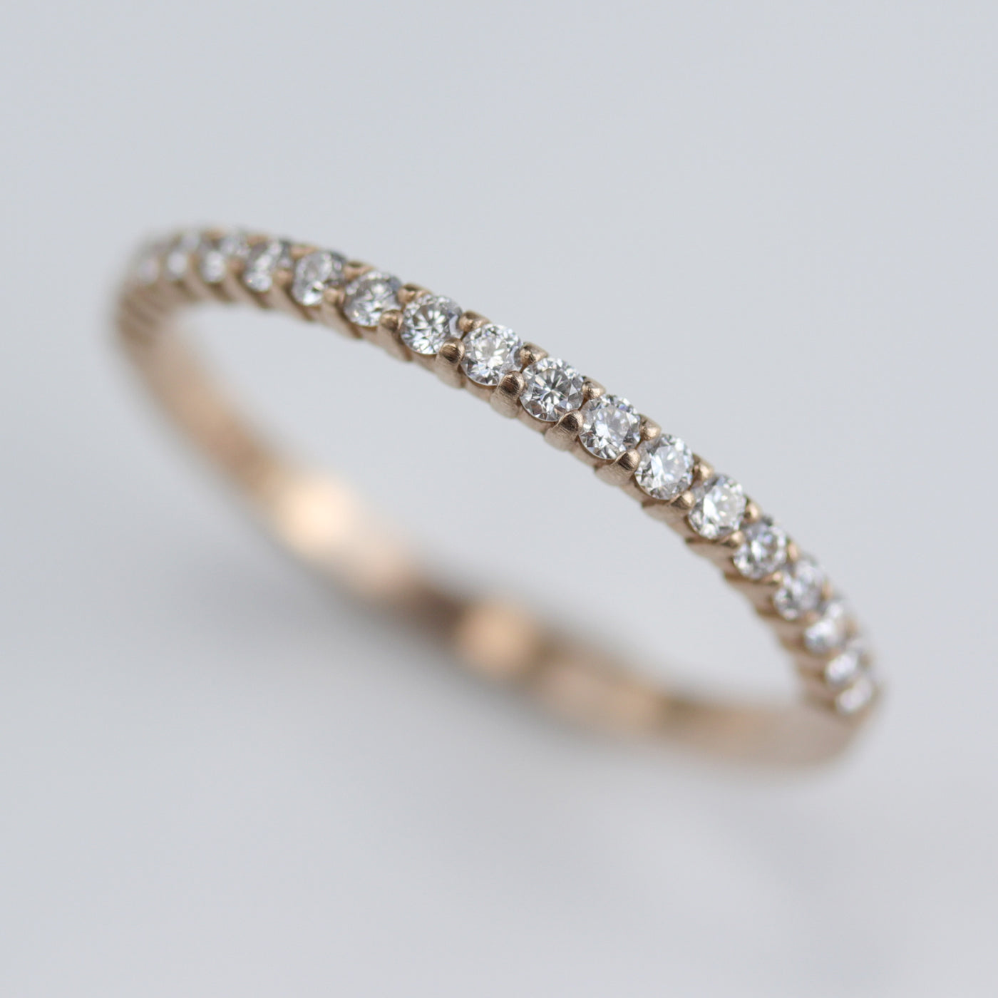 Size 7.25 - Diamond Scalloped Half Eternity Band