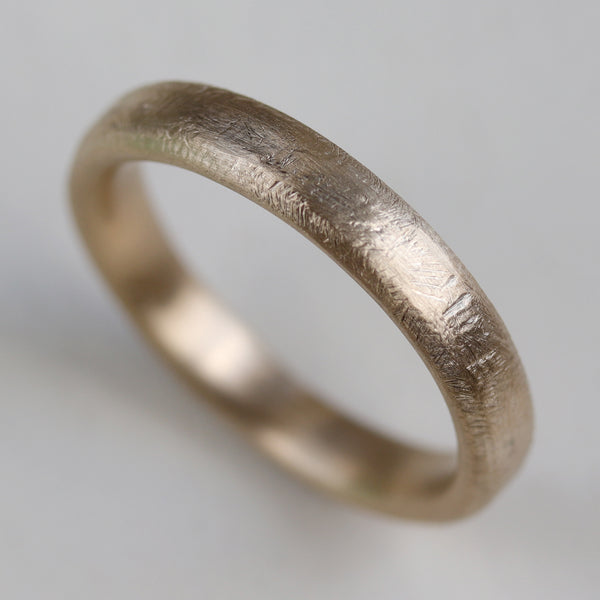 Size 6.75 - 10k Yellow Gold 4mm Hand-Hewn Band