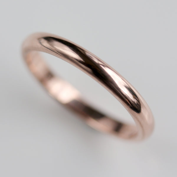 Size 4 - 2.5x1.5mm 14k Rose Gold Classic Band
