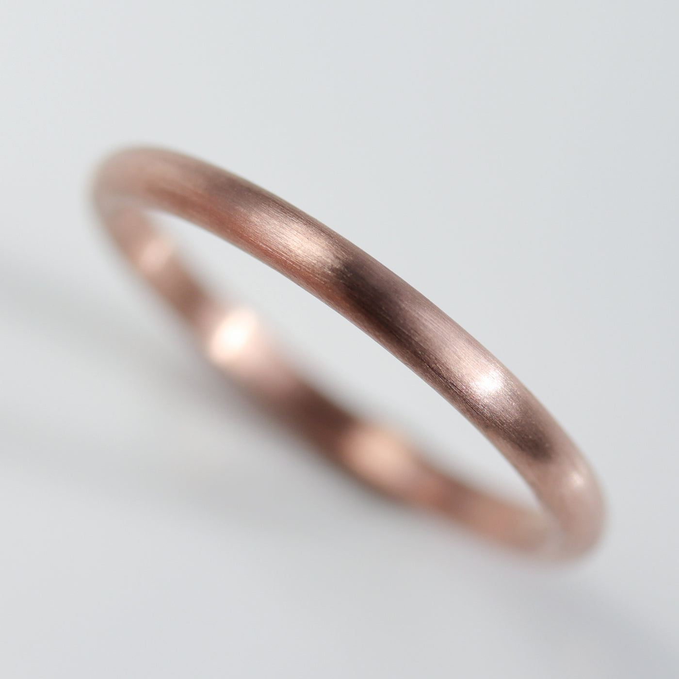 Size 6.25 - 2x1.5mm 14k Rose Gold Classic Band