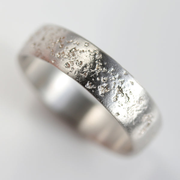 Size 11.5 & 11.75 - 6mm Sterling Silver Concrete Band