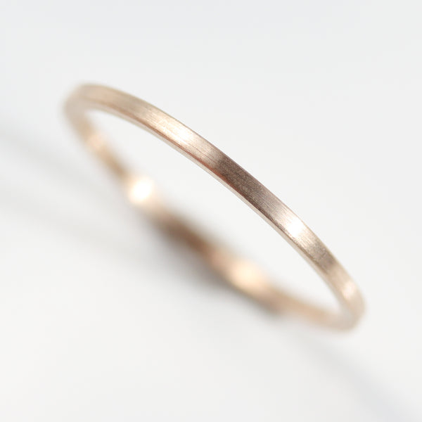 Size 3.5 - 10k Yellow Gold 1x1mm Square Band