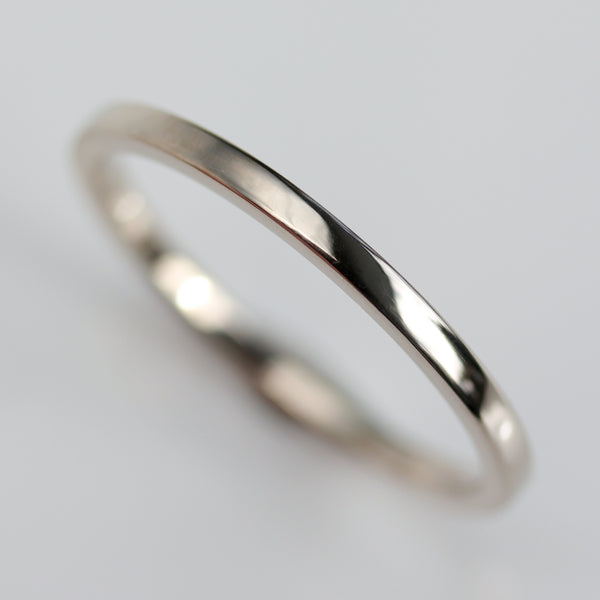 Size 6.25 - 18k White Gold 1.5mm Square Band