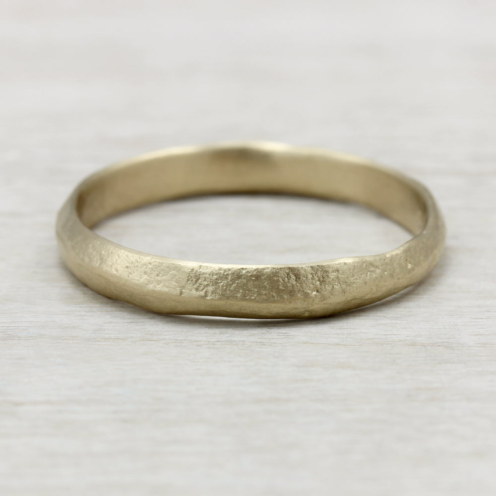 3mm Knife Edge Ancient Textured Band Eco Friendly Ethical Jewelry