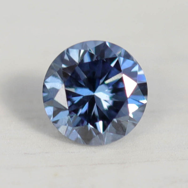 . 2-4mm Round Lab-grown Blue Diamond