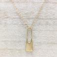 Large Padlock Pendant, Necklace - Aide-mémoire Jewelry