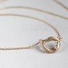 Large Sculpted Torus Diamond Pendant, Necklace - Aide-mémoire Jewelry
