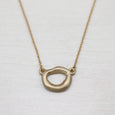 Large Sculpted Torus Pendant, Necklace - Aide-mémoire Jewelry