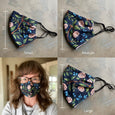 Yarn Dyed Gray Fitted Fabric Mask Style #4
